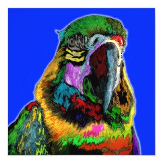 Parrot (watercolor) custom invitations