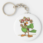 Parrot with Maracas Key Chains
