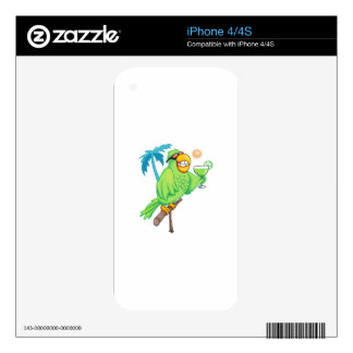 PARROT WITH MARGARITA DECALS FOR iPhone 4S