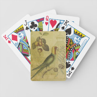 Parrot with Plums Bicycle Playing Cards