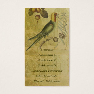 Parrot with Plums Business Card