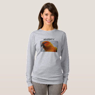 Parrot Women's Long Sleeve TShirt Conure Design