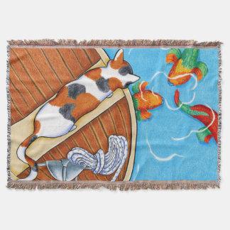 Parrotfish Throw Blanket