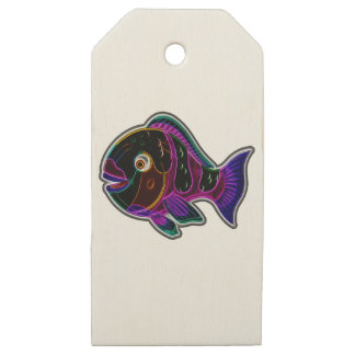 Parrotfish Wooden Gift Tags