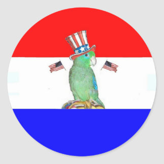 Parrotlet 4th of July Stickers
