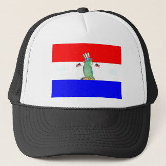 Parrotlet 4th of July Trucker Hat