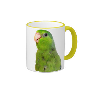 Parrotlet Bird Green Parrotlet Yellow Cup Mug art