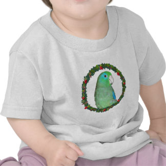 Parrotlet Christmas wreath Tshirts