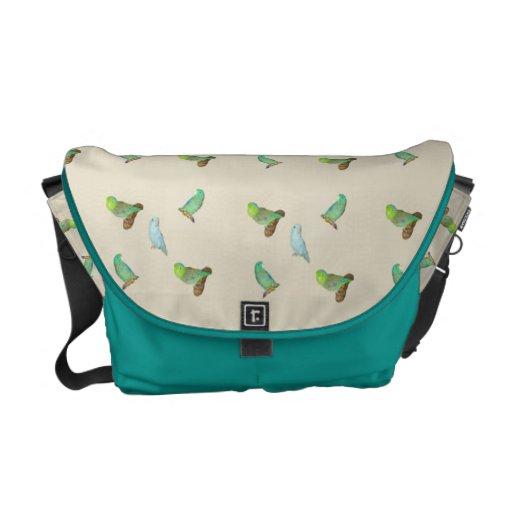 Parrotlet flock messenger bag