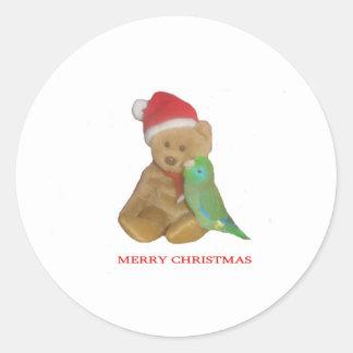 Parrotlet meets Santa Sticker