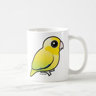 Parrotlet pacífico amarillo taza de café