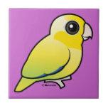 Parrotlet pacífico amarillo teja  ceramica