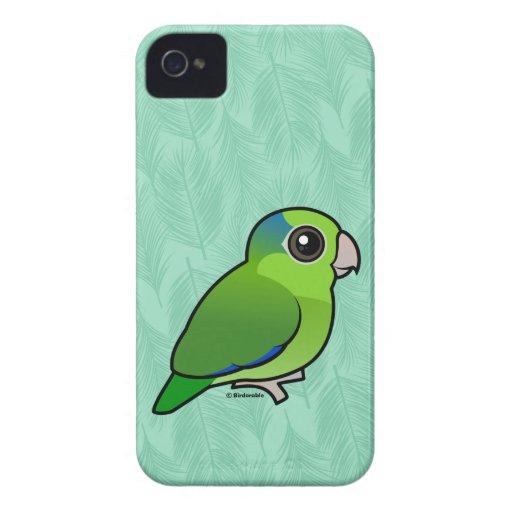 Parrotlet pacífico verde iPhone 4 Case-Mate cárcasa