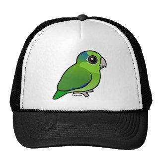 Parrotlet pacífico verde gorras