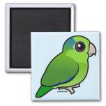 Parrotlet pacífico verde iman de frigorífico