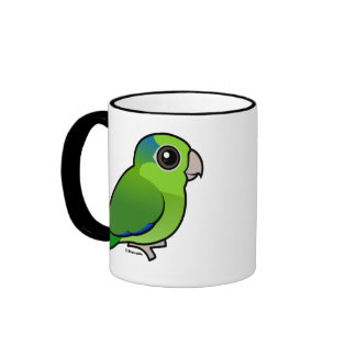 Parrotlet pacífico verde tazas de café