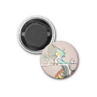 Parrots 1 Inch Round Magnet