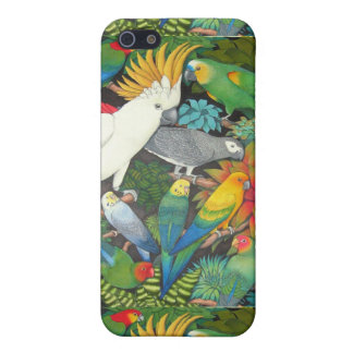 Parrots and Bromeliads iPhone Case