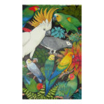 Parrots and Bromeliads Posters