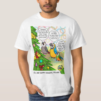 Parrots and Christmas tree T-Shirt