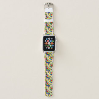 Parrots And Palm Leaves Apple Watch Band