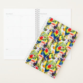Parrots And Palm Leaves Planner