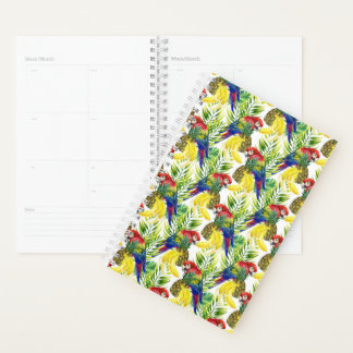 Parrots And Tropical Fruit Planner