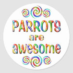 PARROTS ARE AWESOME STICKER