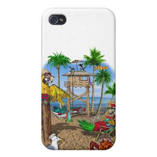 Parrots Beach Party iPhone 4/4S Cases