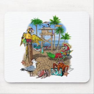 Parrots Beach Party Mouse Pad