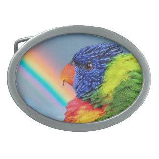Parrots Belt Buckle Oval