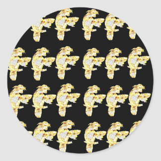 PARROTS BLING CLASSIC ROUND STICKER
