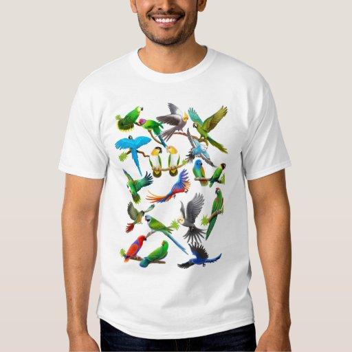 Parrots Galore T Shirt Zazzle