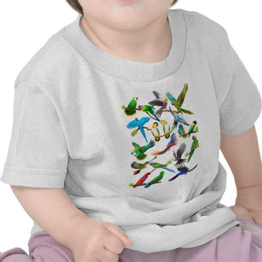 Parrots Galore T-shirts