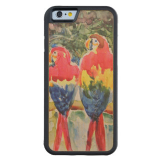 Parrots in the Rain Forest Carved Maple iPhone 6 Bumper Case