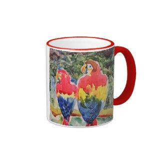 Parrots in the Rain Forest Ringer Mug