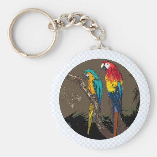Parrots Key Chain