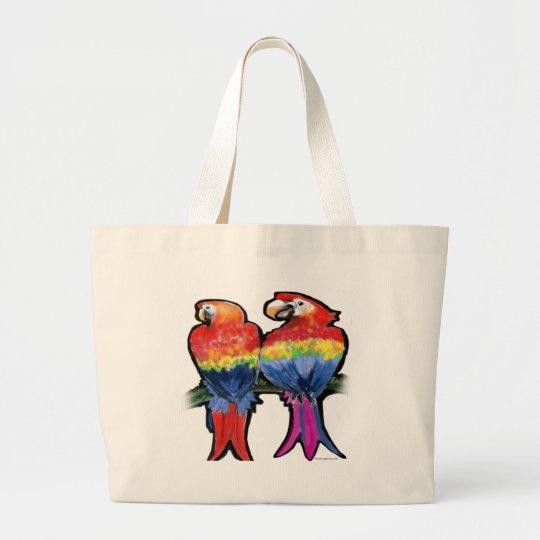 Parrots Large Tote Bag