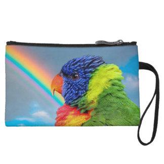 Parrots Mini Clutch Bag Wristlet Clutch