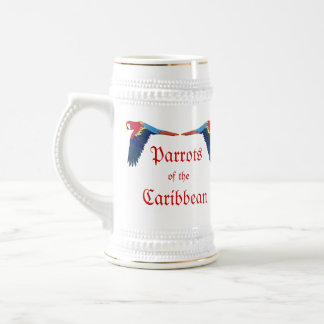 Parrots of the Caribbean Beer Stein
