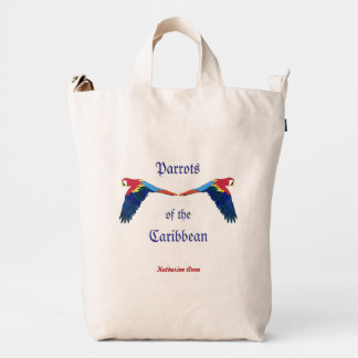 Parrots of the Caribbean Personalized Duck Bag