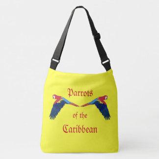 Parrots of the Caribbean Yellow Crossbody Bag