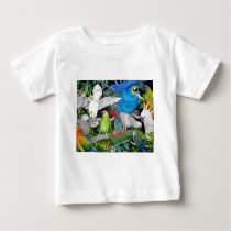 Parrots of the World Baby T-Shirt