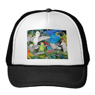 Parrots of the World Trucker Hat