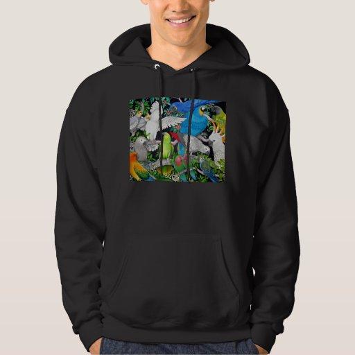 Parrots of the World Hooded Sweatshirt
