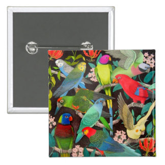Parrots of the World II Pinback Button