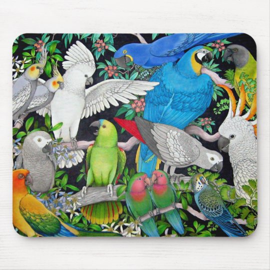 Parrots of the World Mouse Pad