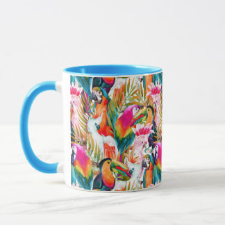 Parrots & Palm Leaves Mug