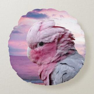 Parrots Round Throw Pillow