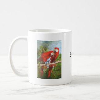Parrots Sharing Secrets Classic White Coffee Mug